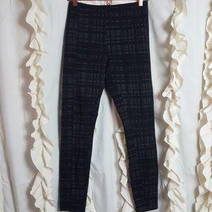 Lysse Mara seamed leggings char plaid black gray